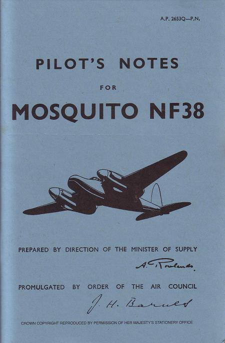 Pilot's Notes Mosquito 38