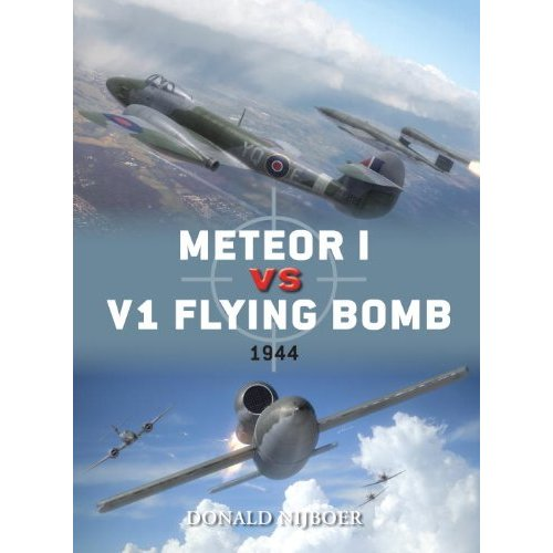 Meteor I vs V1 Flying Bomb - 1944